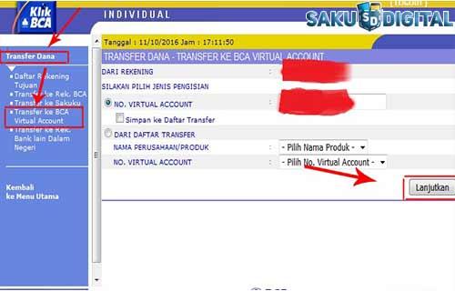 Cara Top GoPay Melalui Internet Banking BCA