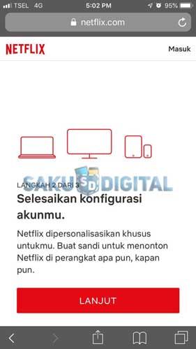 Konfigurasi Akun Netflix
