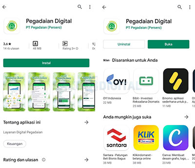 Download Pegadaian digital