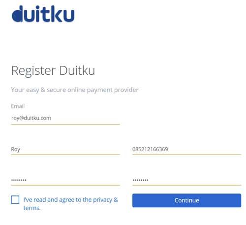 Registrasi Duitku 2