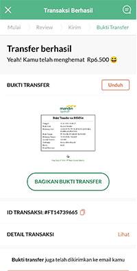 Transfer Berhasil