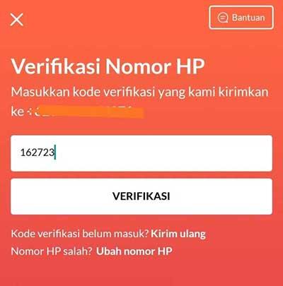 kode OTP ke aplikasi Flip