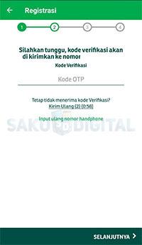 kode OTP via SMS