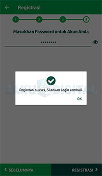 registrasi Pegadaian Digital berhasil