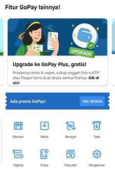 Upgrade GoPay Plus