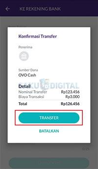 konfirmasi transfer OVO ke Jenius