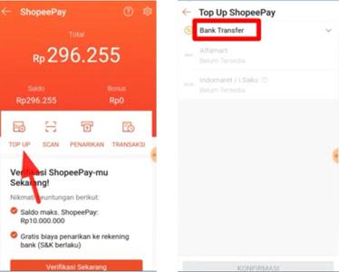 top up ShopeePay