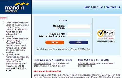 Lewat Internet Banking Mandiri