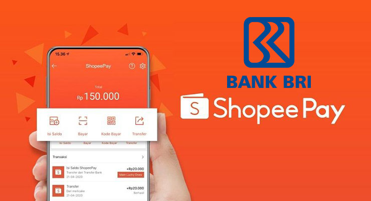 Cara Top Up Shopeepay lewat Bank BRI Terbaru