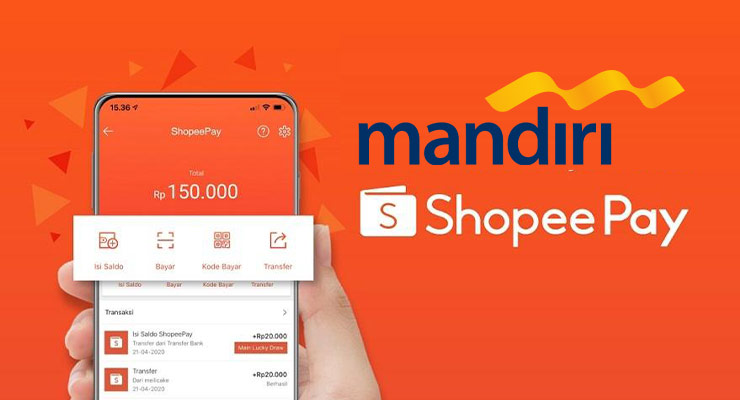 Cara Top Up Shopeepay Lewat Bank Mandiri Terbaru