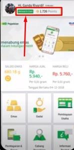 3. Pilih Menu Aktivasi G Cash