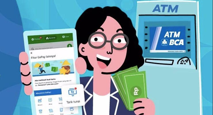 Cara Tarik Tunai Saldo Gopay Tanpa Kartu di ATM BCA