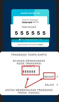 Masukan Kode Transaksi