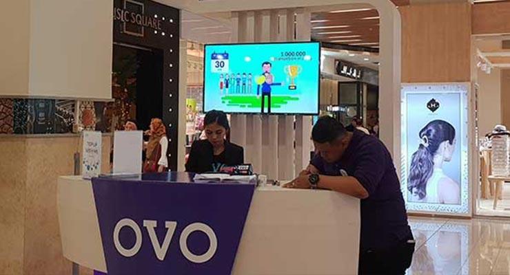 Biaya Top Up lewat Booth OVO