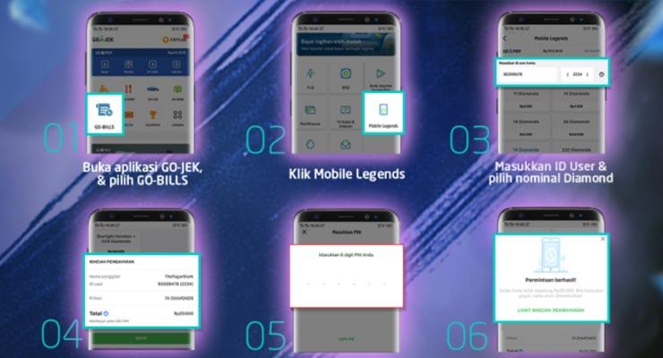 Cara Top Up Diamond Mobile Legends Pakai Gopay