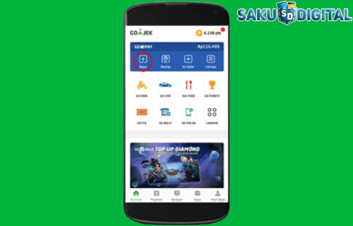 1 Buka Aplikasi Gojek DI hp