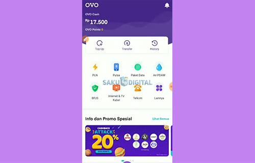 1 Buka Aplikasi OVO 2