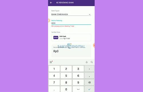 4 Lengkapi Informasi Bank