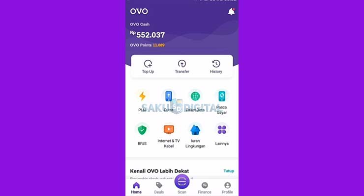 1 Buka Aplikasi OVO 1