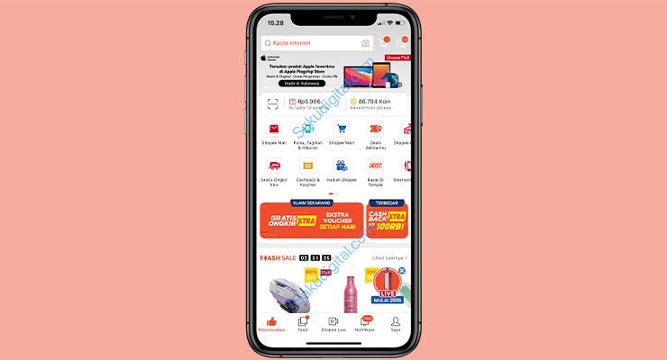 1 Buka Aplikasi Shopee 2