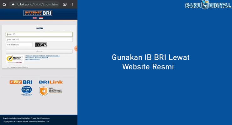 2 Gunakan IB BRI Lewat Website Resmi