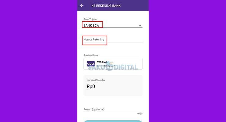 4 Isi Nama Bank dan Nomor Rekening