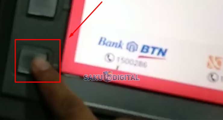 7 Klik Tombol Sebelah Kiri Paling Bawah Layar ATM