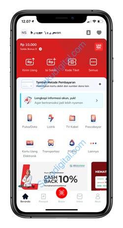 1 Buka Aplikasi LinkAja 3