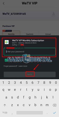 11 Masukkan Password Email