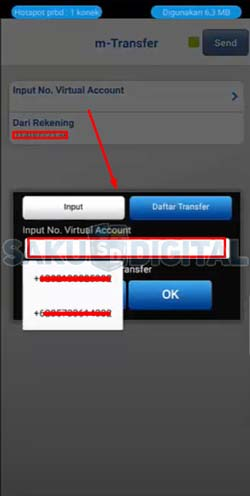 12 Input Nomor Virtual Account