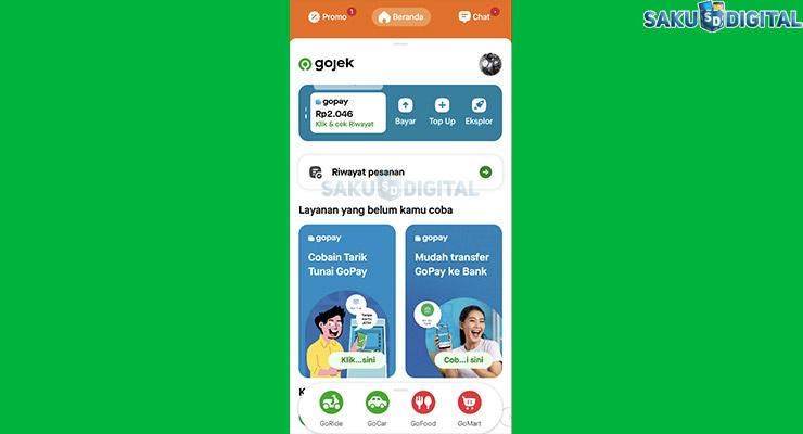 2 Buka Aplikasi Gojek