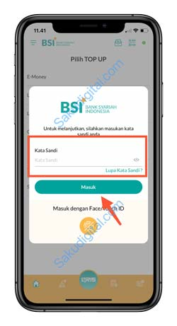 4 Masukkan Kata Sandi BSI Mobile 1