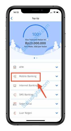 4 Pilih Mobile Banking 1