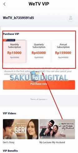 4 Pilih Paket VIP