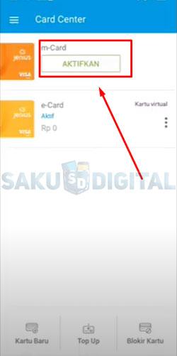 5 Tap Aktifkan M Card