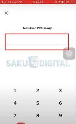 6 Input PIN LinkAja