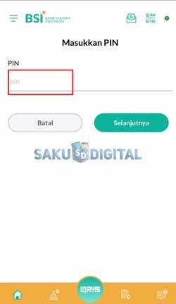 6 Masukan PIN Cara Top Up E-Money Lewat BSI Mobile