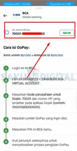 6 Salin Kode Virtual Account Gopa BCA