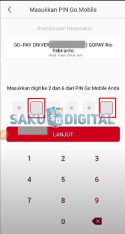 8 Masukan PIN Go Mobile