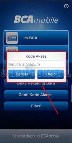 9 Input Kode Akses