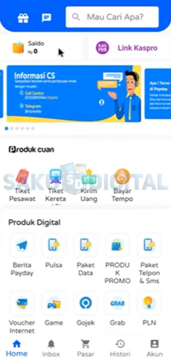 1 Buka Aplikasi Payday
