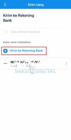 4 Klik Tambah Kirim Ke Rekening Bank