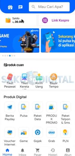 6 Buka Aplikasi Payday 1