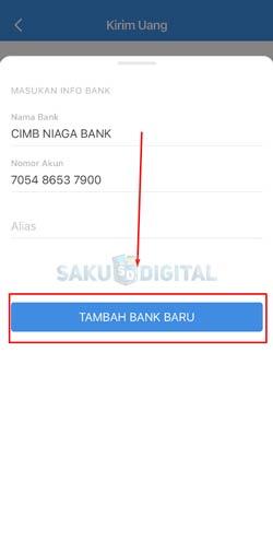 7 Klik Tambah Bank Baru