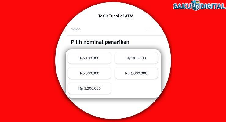 Nominal Tarik Tunai LinkAja Lewat ATM Mandiri