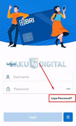 3 Klik Lupa Password