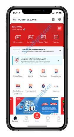 1 Buka Aplikasi LinkAja