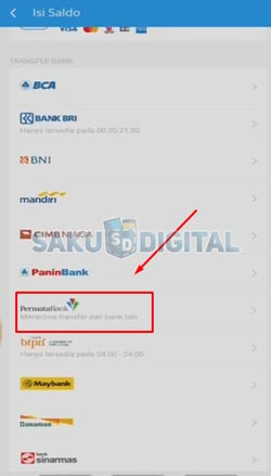 3 Pilih Bank Permata
