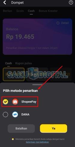 6 Pilih ShopeePay