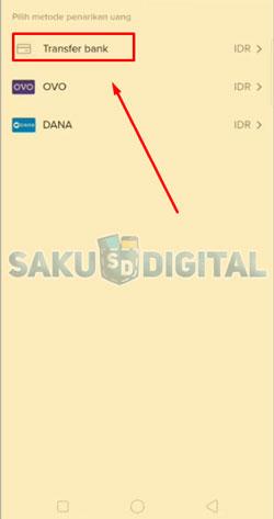 7 Pilih Transfer Bank